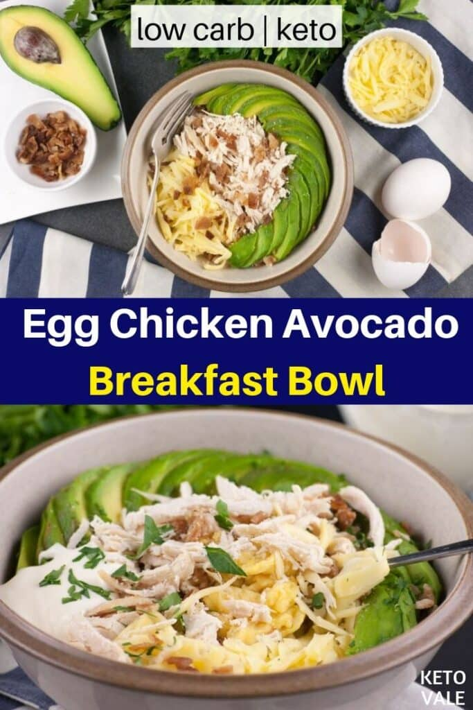 low carb egg chicken avocado breakfast