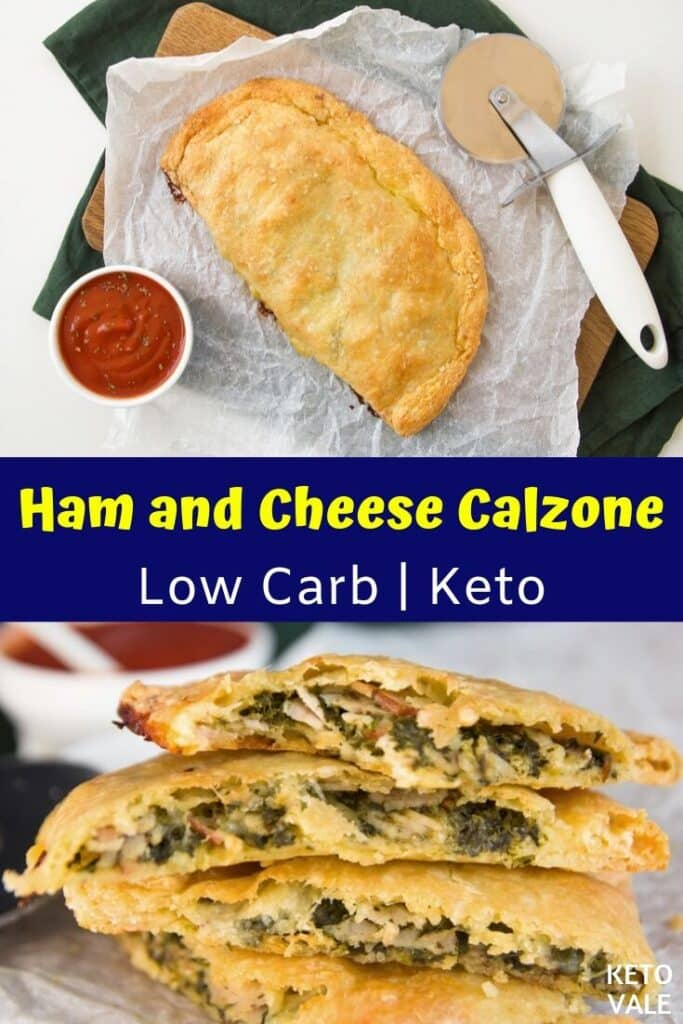 low carb ham cheese calzone