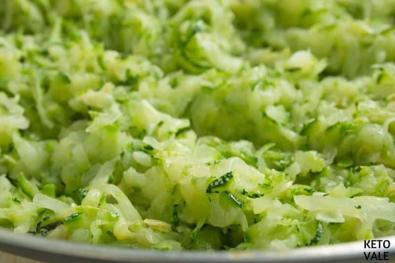 drain grated zucchini