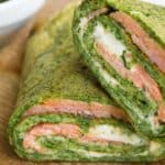 smoked salmon spinach omelette