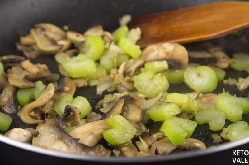 add mushrooms onion celery
