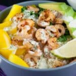 avocado shrimp rice bowl
