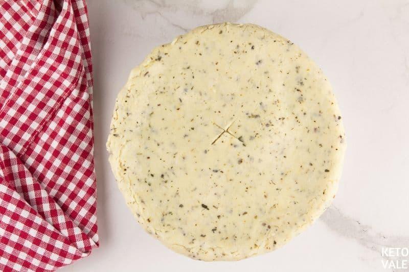 fold dough on top