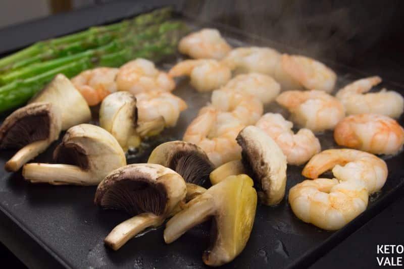 grilling mushroom shrimp