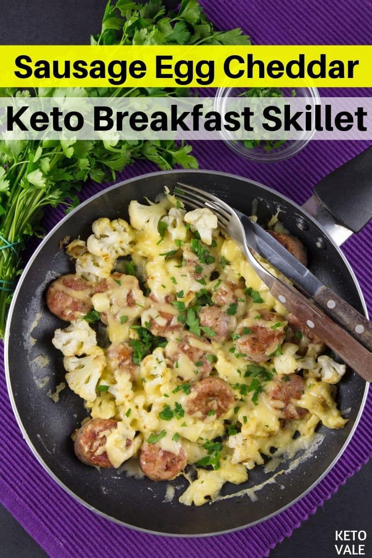 low carb sausage egg cheese skillet