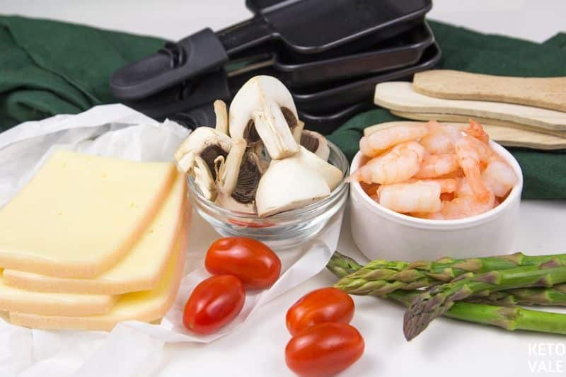 mushroom asparagus shrimp cheese