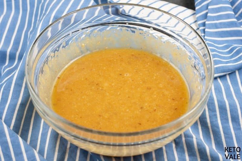 beat egg yolk almond butter erythritol