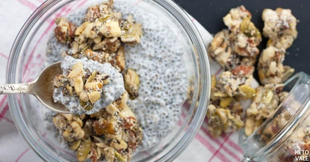 granola chia seeds yogurt