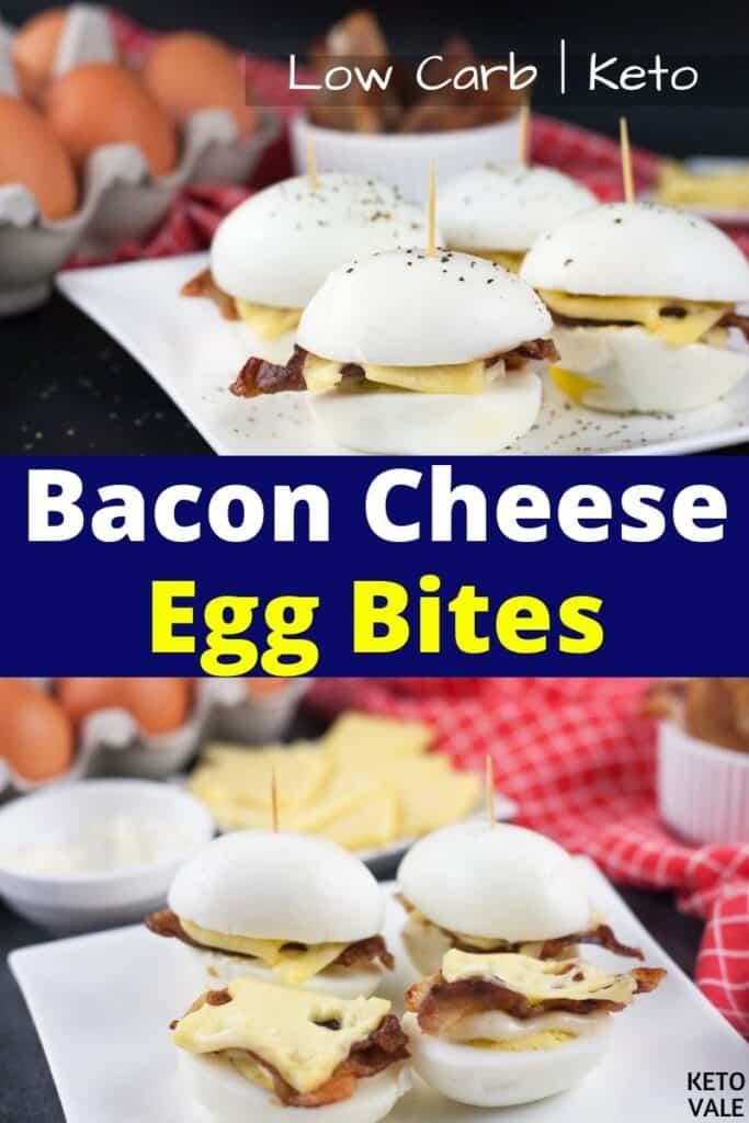 keto bacon cheese egg bites