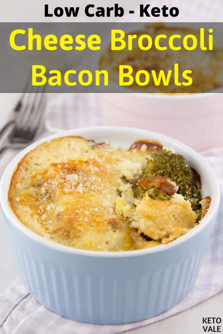 keto broccoli cheese bacon bowl