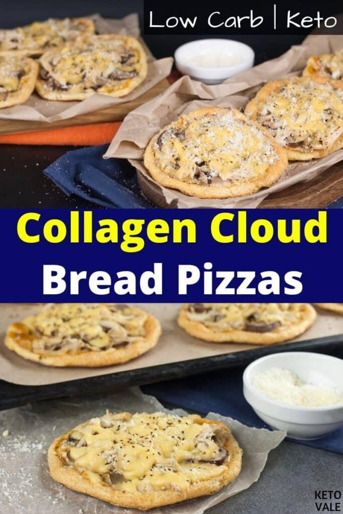 keto cloud bread pizzas