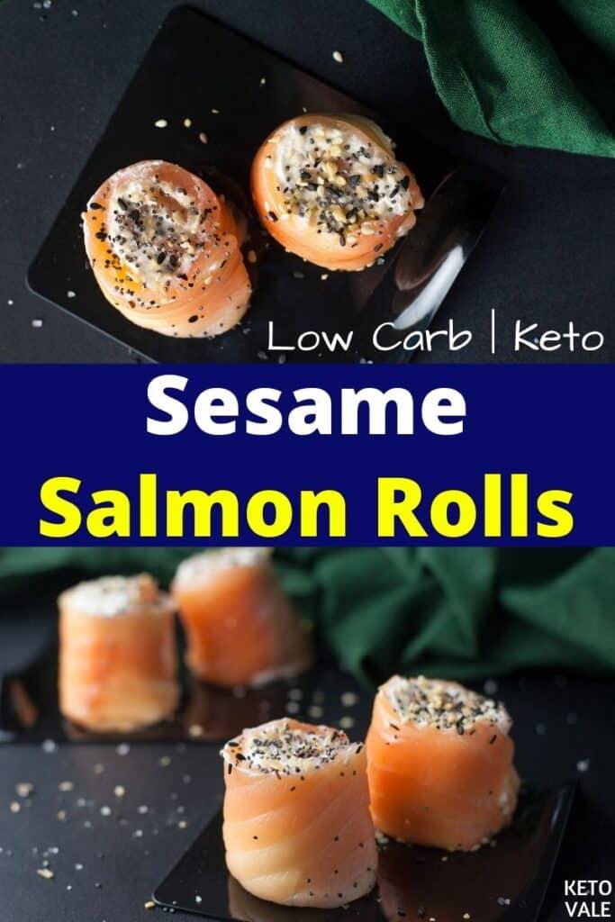 keto sesame salmon roll