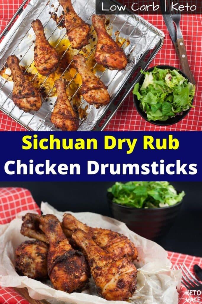 keto sichuan dry rub chicken drumsticks