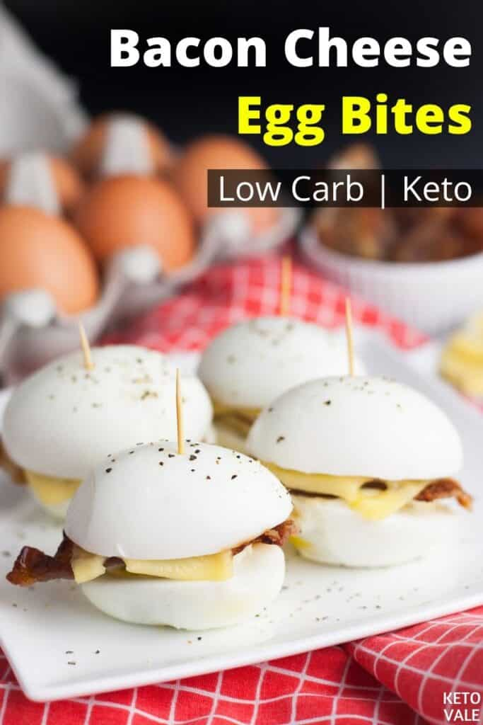 low carb bacon cheese egg bites