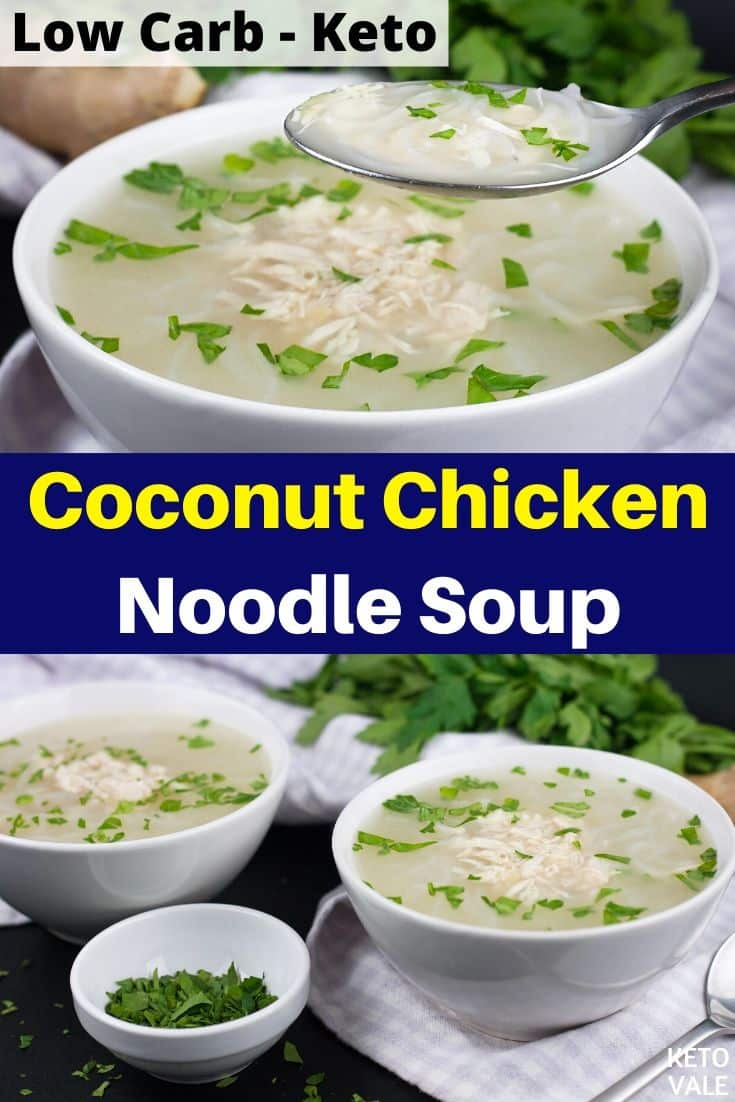 low carb coconut chicken noodle soup