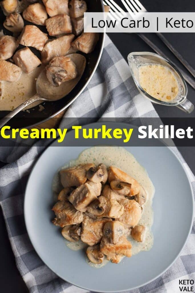 low carb creamy turkey skillet