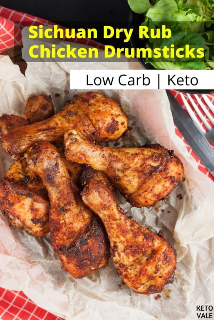 low carb sichuan dry rub chicken drumsticks