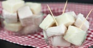 raspberry and vanilla marshmallows