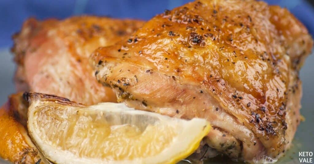 baked lemon garlic chicken thighs
