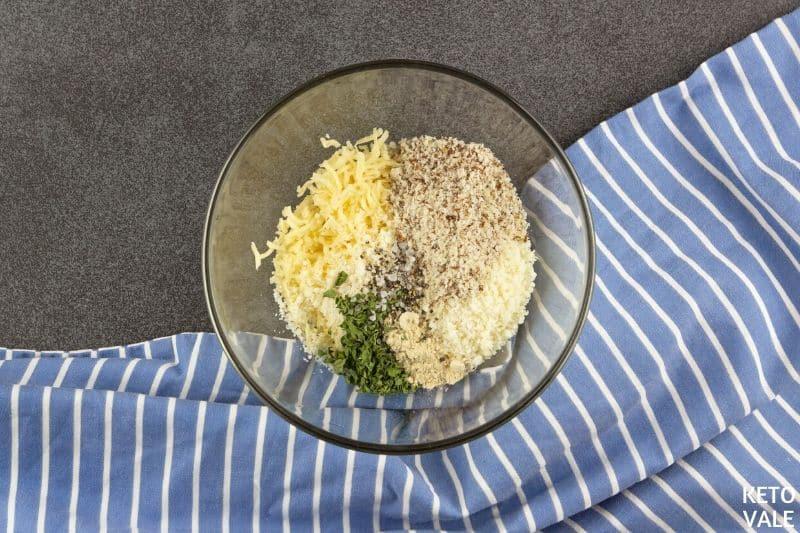 combine cheddar parmesan flour parsley