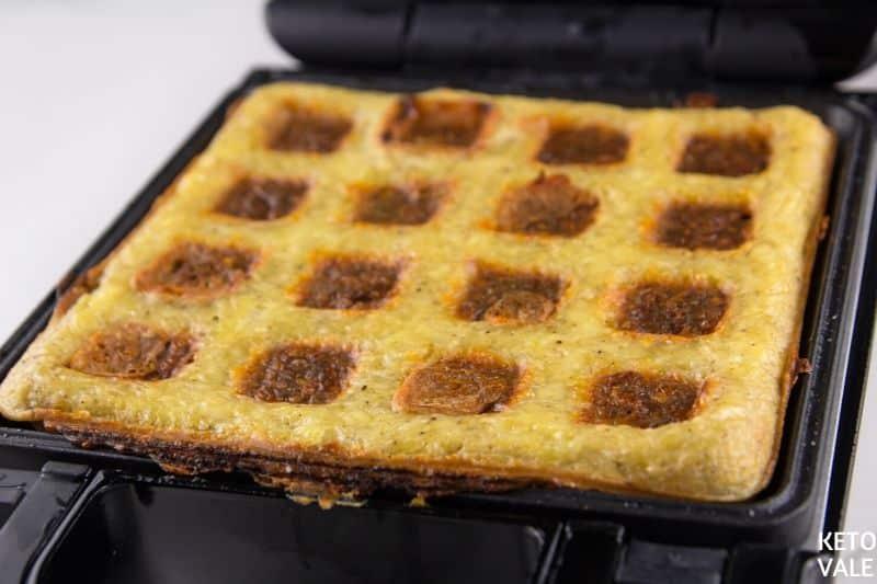 cook waffles until golden