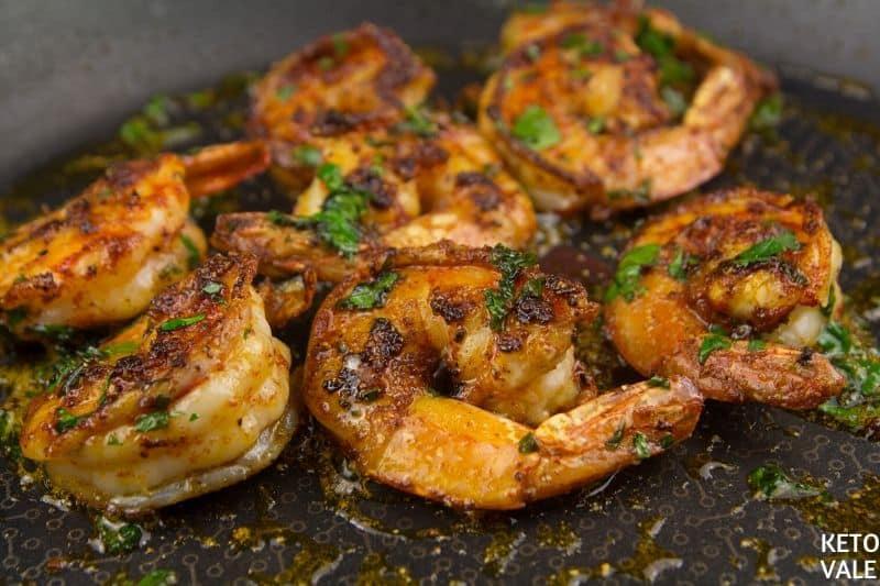fry shrimp butter parsley