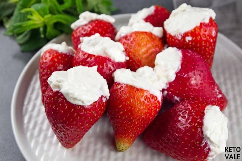 insert cream cheese strawberries
