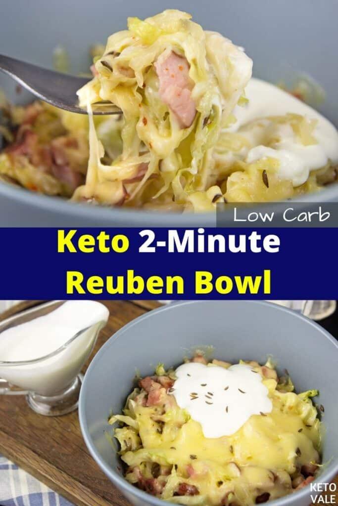 keto 2 minute reuben bowl