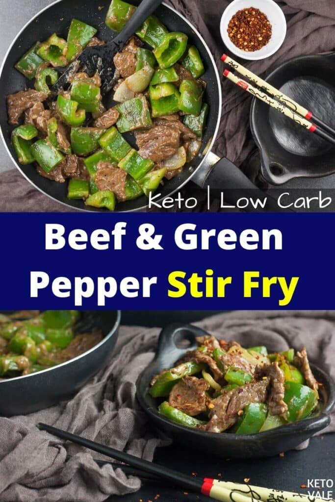 keto beef green pepper stir fry