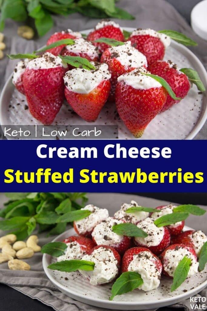 keto cream cheese stuffed strawberries