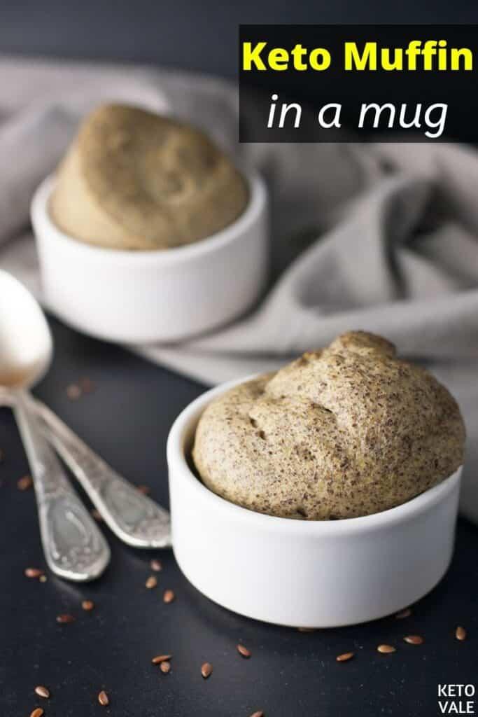 keto muffin in a mug