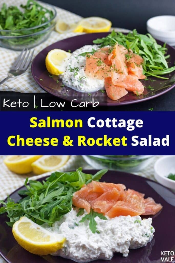 keto salmon cottage cheese and rocket salad