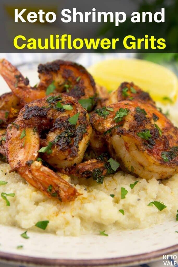 keto shrimp cauliflower grits