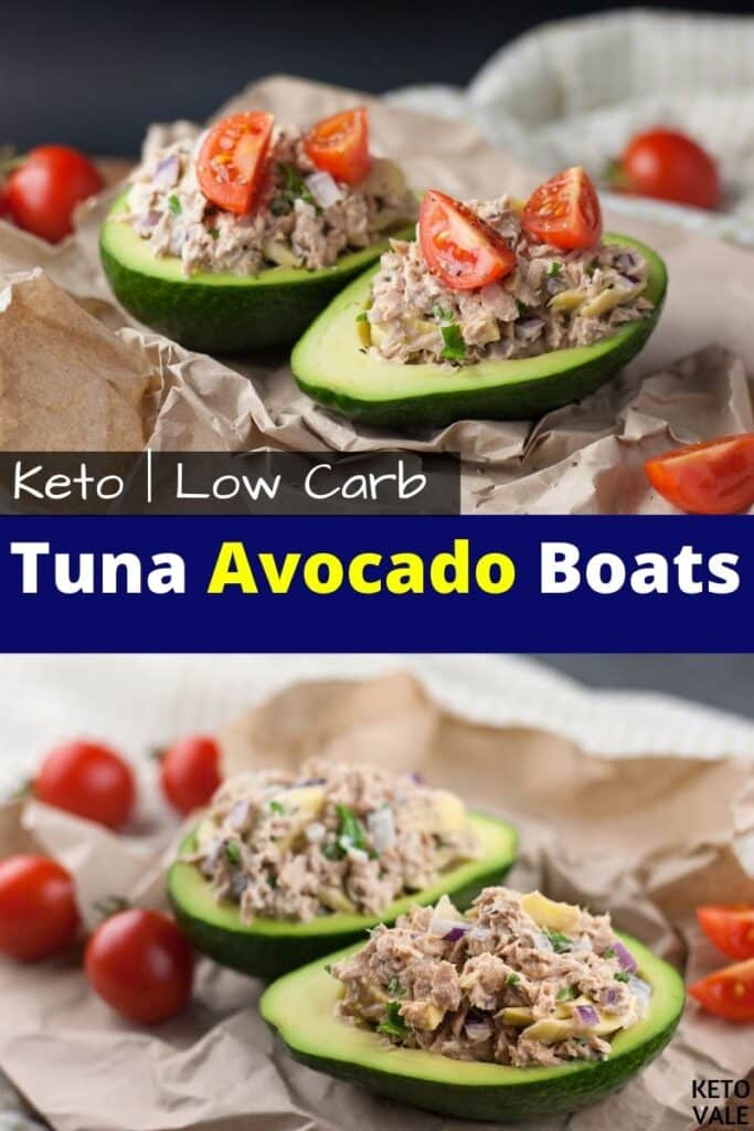 keto tuna avocado boats