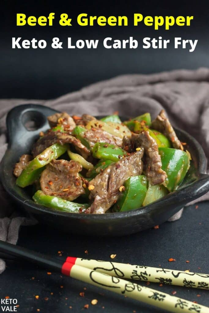 low carb beef green pepper stir fry