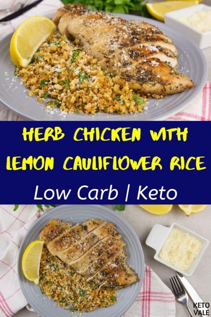 low carb herb chicken cauliflower rice