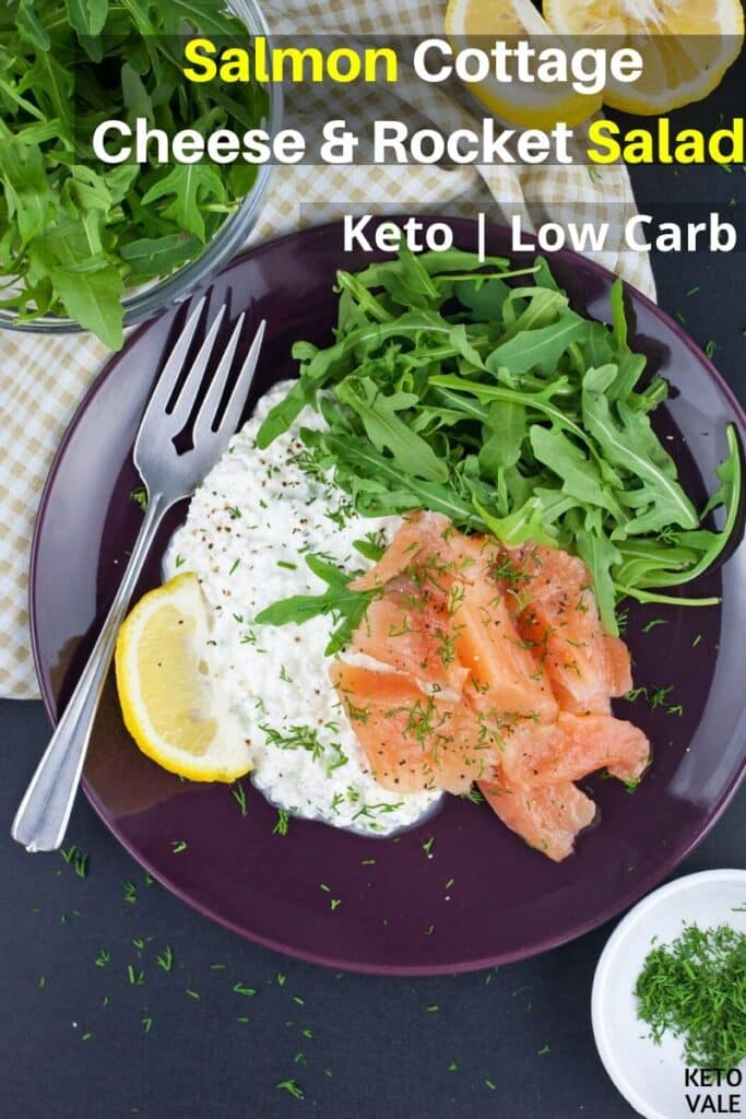 low carb salmon cottage cheese and rocket salad