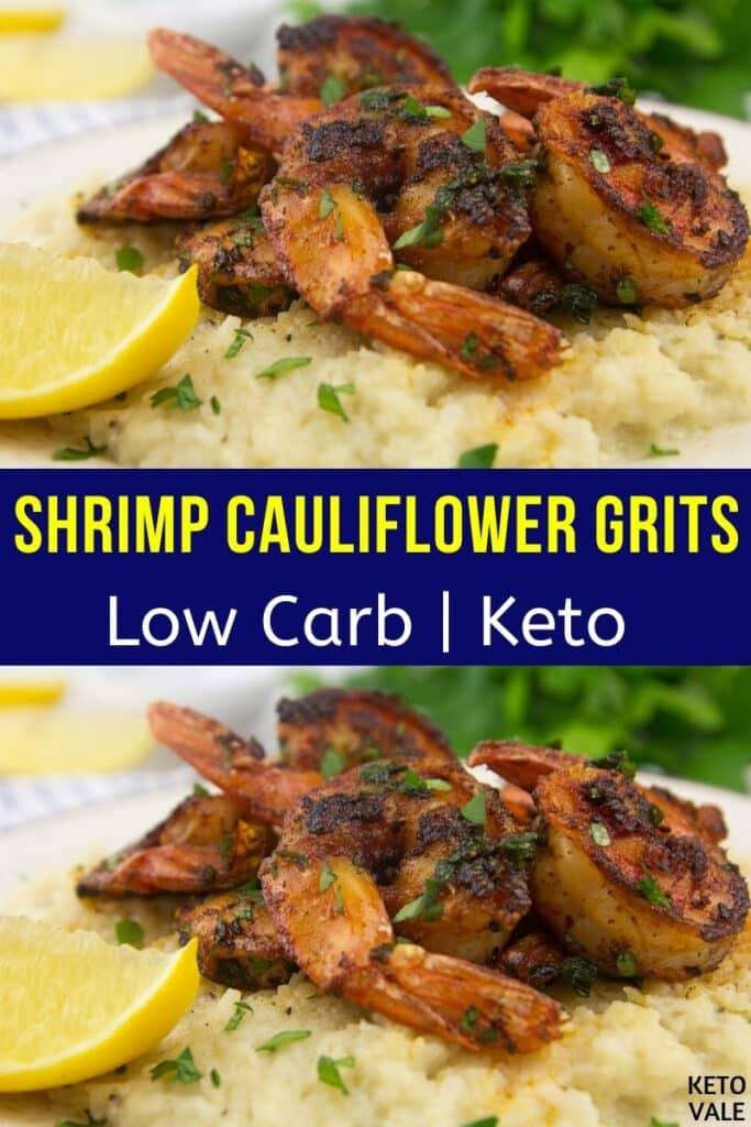 low carb shrimp cauliflower grits