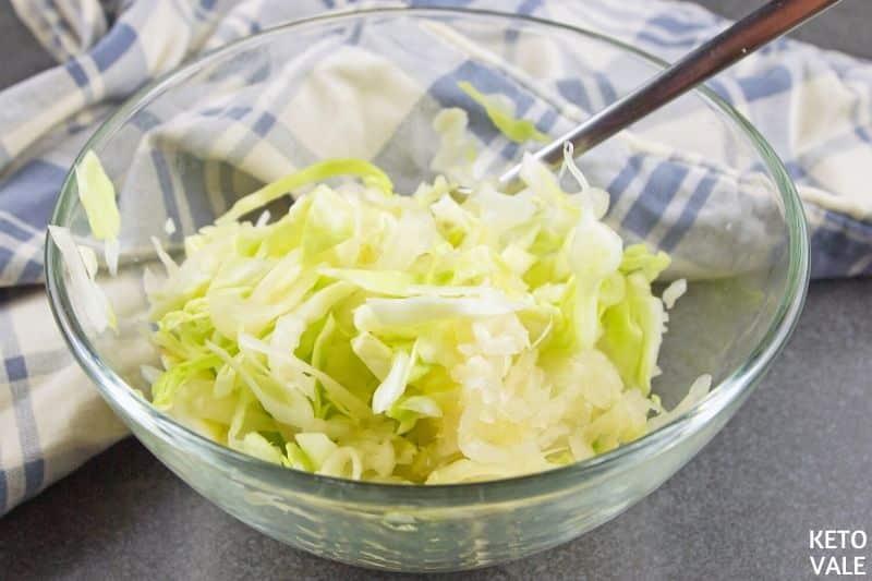 mix shredded cabbage sauerkraut