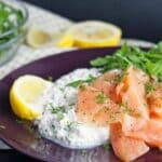 salmon cottage cheese and rocket salad