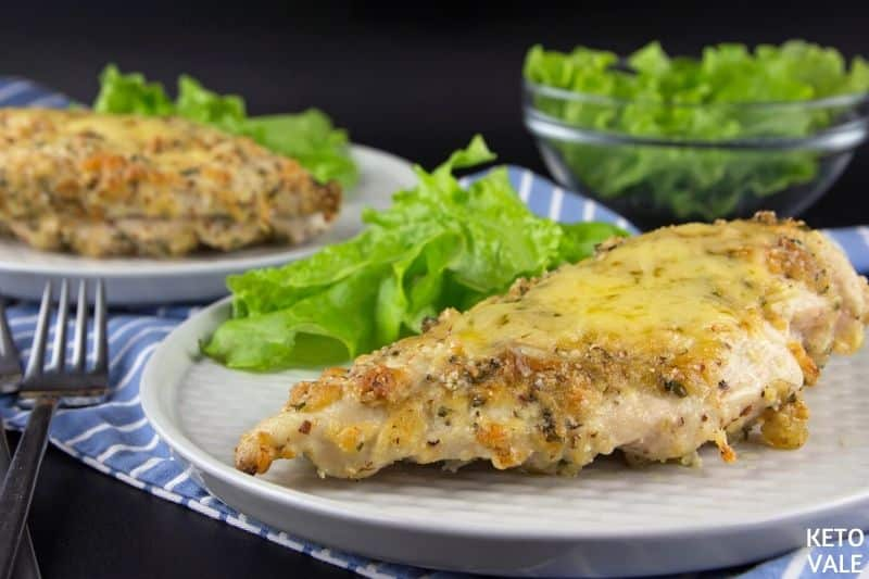 serve baked cheese chicken