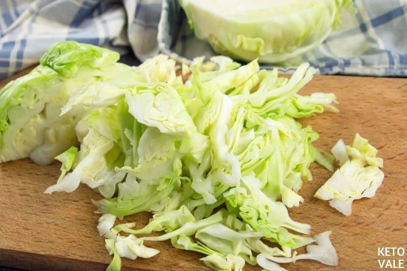 shred cabbage reuben bowl