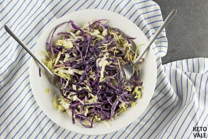 slice cabbage cream lime sauce