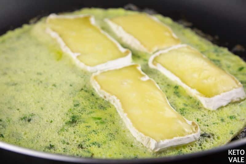 add camembert half egg butter