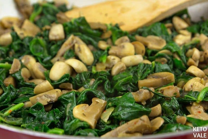 add spinach cook 2 minutes
