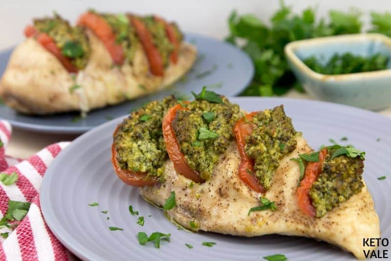 bake ricotta chicken sprinkle parsley