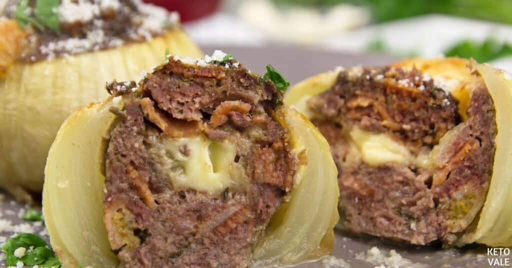 beef stuffed onion