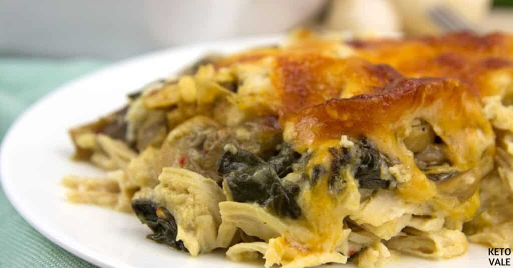 chicken spinach mushroom casserole