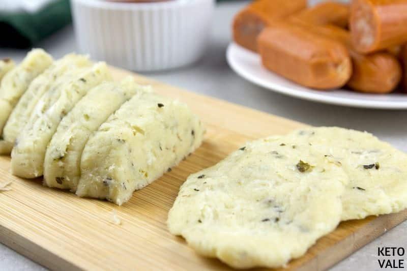 form oval shape dough