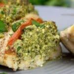 hasselback ricotta spinach chicken